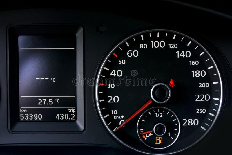 Velocímetro do carro imagens de stock