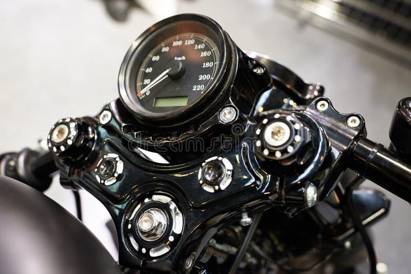 Velocímetro do clássico da motocicleta foto de stock royalty free