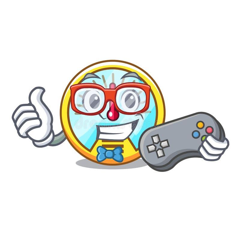 Velocímetro do Gamer isolado com na mascote ilustração royalty free