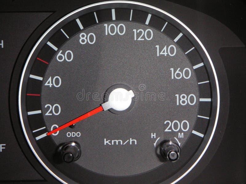 Velocímetro europeo del coche imagen de archivo