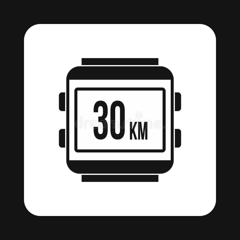 Velocímetro para o ícone da bicicleta, estilo simples ilustração stock
