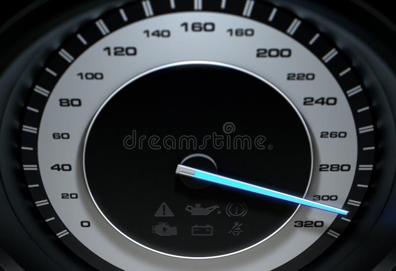 Velocímetro rapidamente ilustração stock