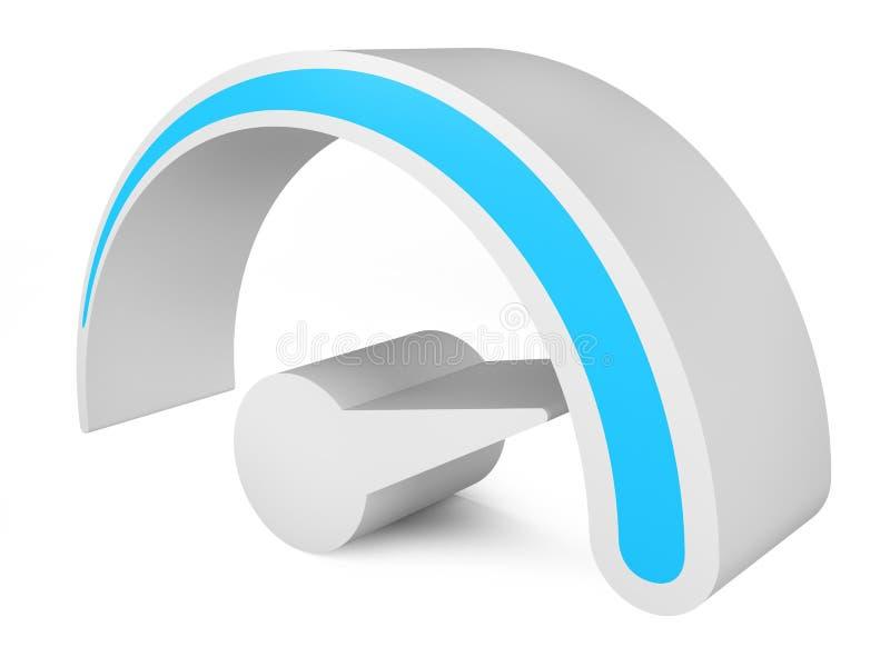 Velocímetro Símbolo abstracto 3d stock de ilustración