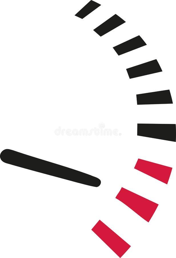 Velocímetro - velocidade no limite ilustração do vetor