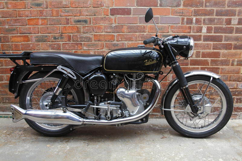 Velocette Venom motorcycle. 1961 hand built by Veloce Ltd in Hall Green, Birmingham, England. Winning two world championships in the 350cc series and still royalty free stock photography