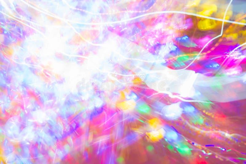 Velocidad abstracta del color claro de la noche, estilo del partido del color stock de ilustración