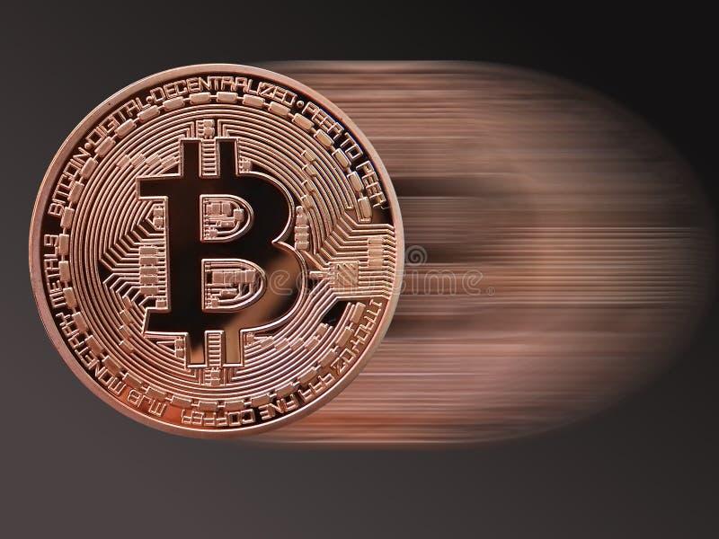 Velocidad de Bitcoin ilustración del vector