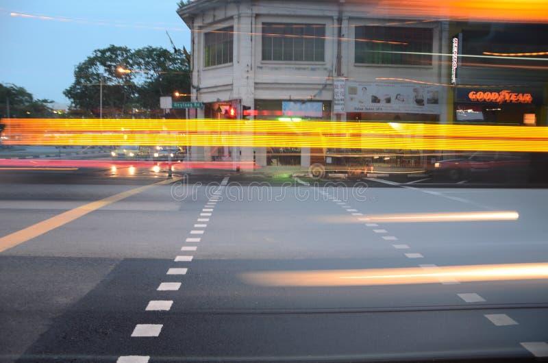 Velocidad de la luz en el camino foto de archivo