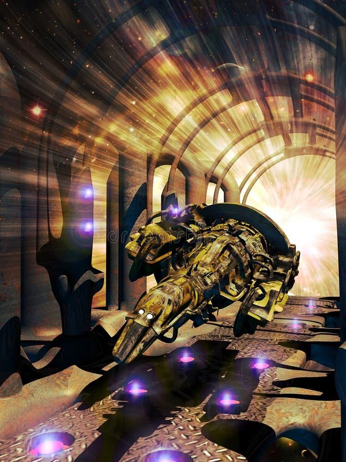 Velocidad de la luz Teletransportation stock de ilustración