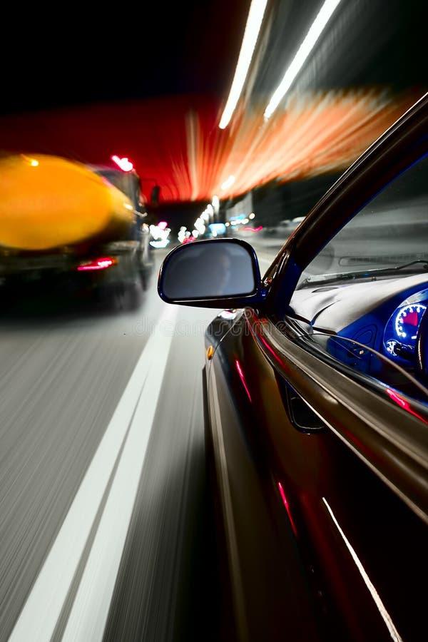 Velocidad de la noche imagenes de archivo