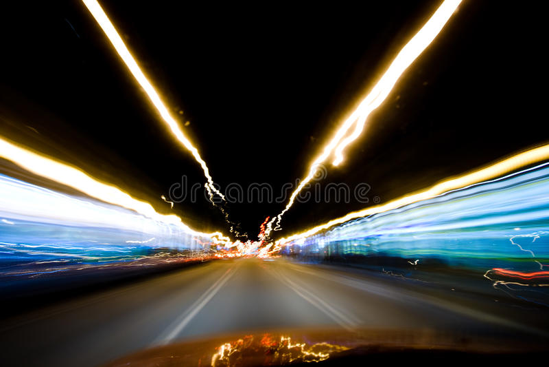 Velocidad de la noche foto de archivo