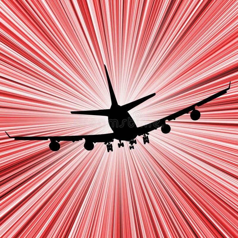 Velocidad del aeroplano stock de ilustración