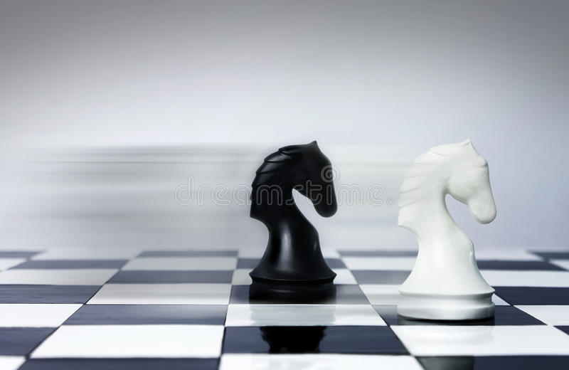 Velocidad del ajedrez foto de archivo