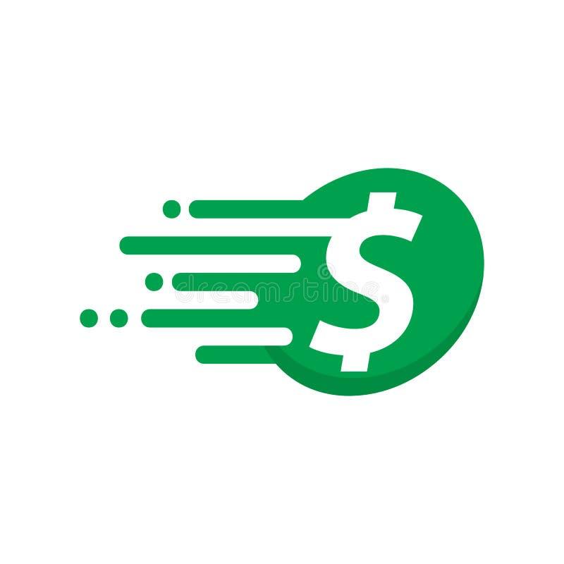 Velocidad Logo Icon Design del dinero libre illustration