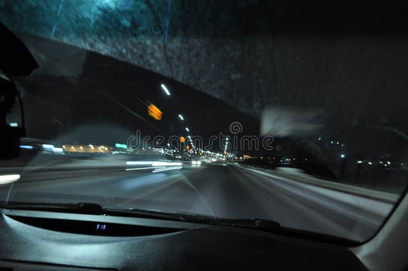 velocidad noche Camino fotos de archivo libres de regalías