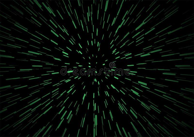Velocidad verde del universo ilustración del vector