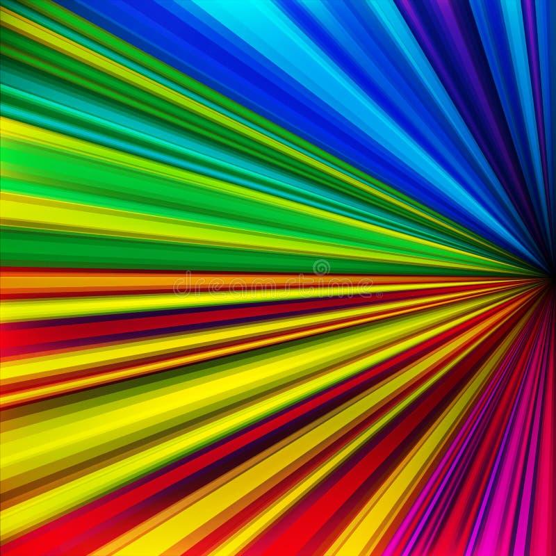 A velocidade colorida abstrata incorpora o fundo. ilustração royalty free