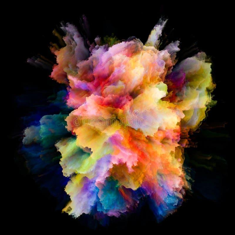 Velocidade da explosão colorida do respingo da pintura ilustração do vetor