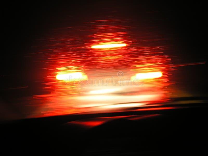 Velocidade de luzes vermelhas fotografia de stock royalty free