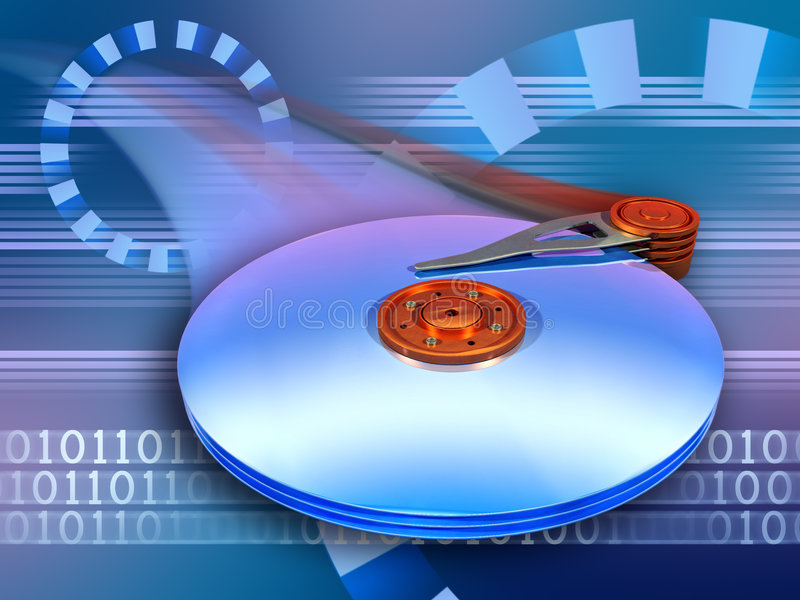 Velocidade do disco rígido ilustração royalty free