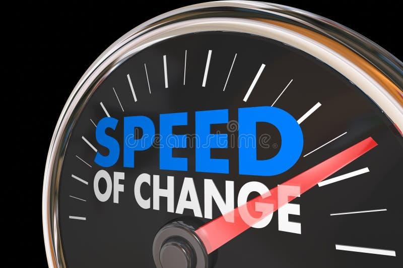 A velocidade do tempo da evolução do progresso do pulso de disparo da mudança exprime 3d Illustrat ilustração do vetor