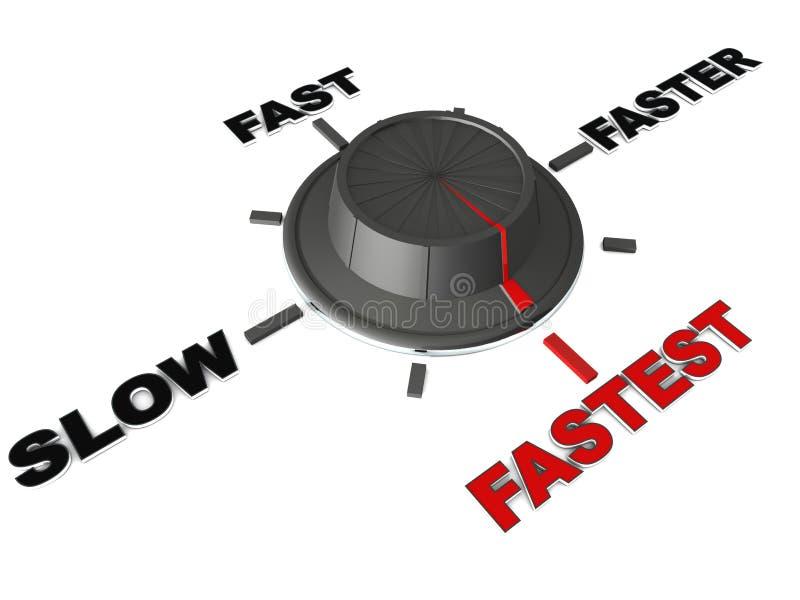 A velocidade a mais rápida ilustração royalty free