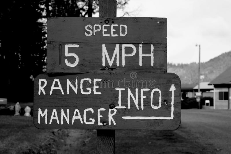 Velocidade 5 MPH foto de stock