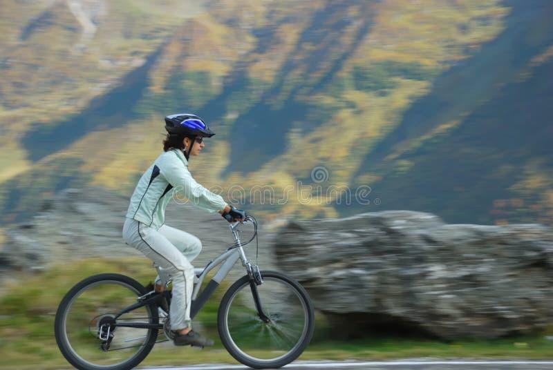 Velocidade na bicicleta imagem de stock royalty free