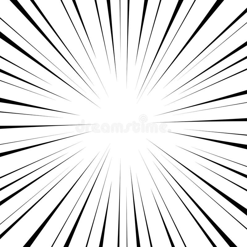 Velocidade radial cômica ilustração royalty free