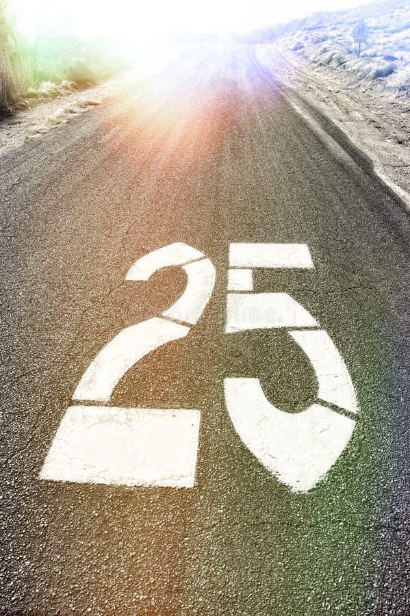 Velocidade vinte da estrada cinco MPH fotos de stock royalty free