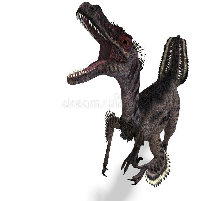 velociraptor δεινοσαύρων απεικόνιση αποθεμάτων