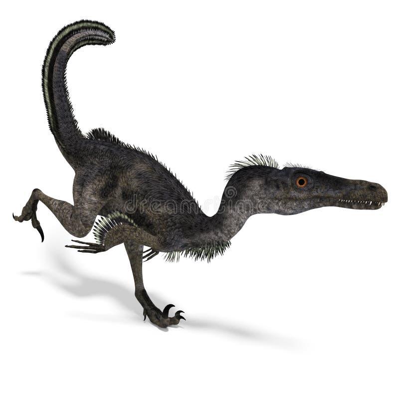 velociraptor динозавра иллюстрация штока