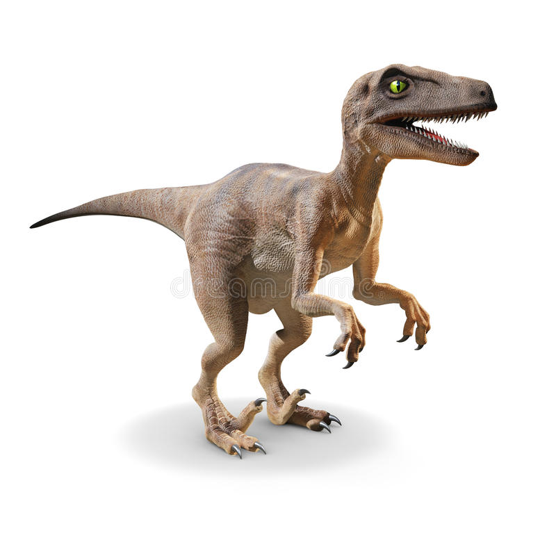 Velociraptor 3d illustration stock