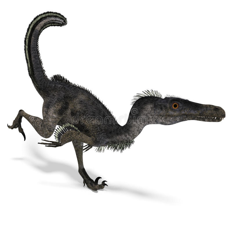 Velociraptor del dinosaurio stock de ilustración
