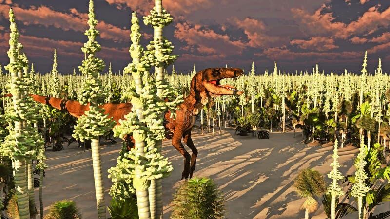 Velociraptor dinosaura 3d rendering ilustracji
