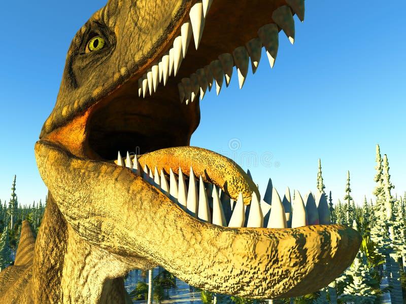 Velociraptor dinosaura 3d rendering royalty ilustracja