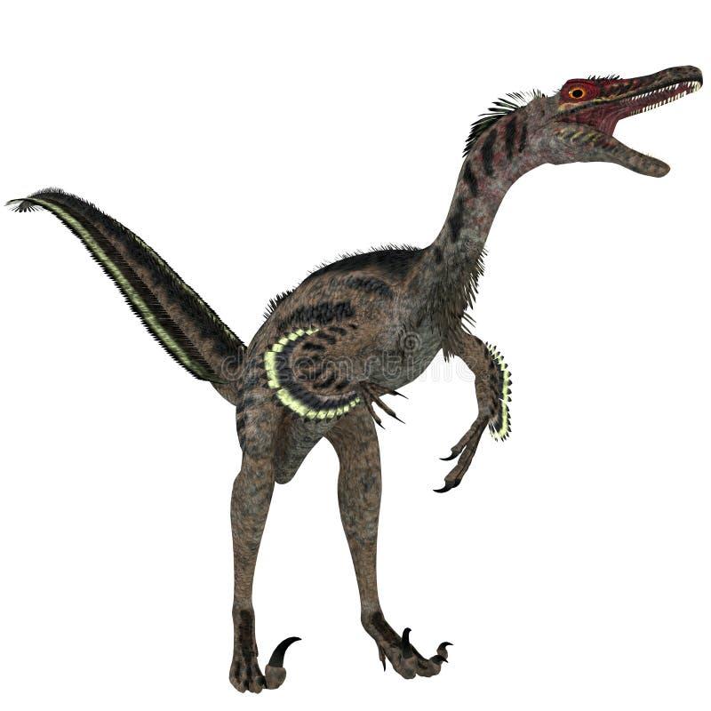 Velociraptor en blanco stock de ilustración