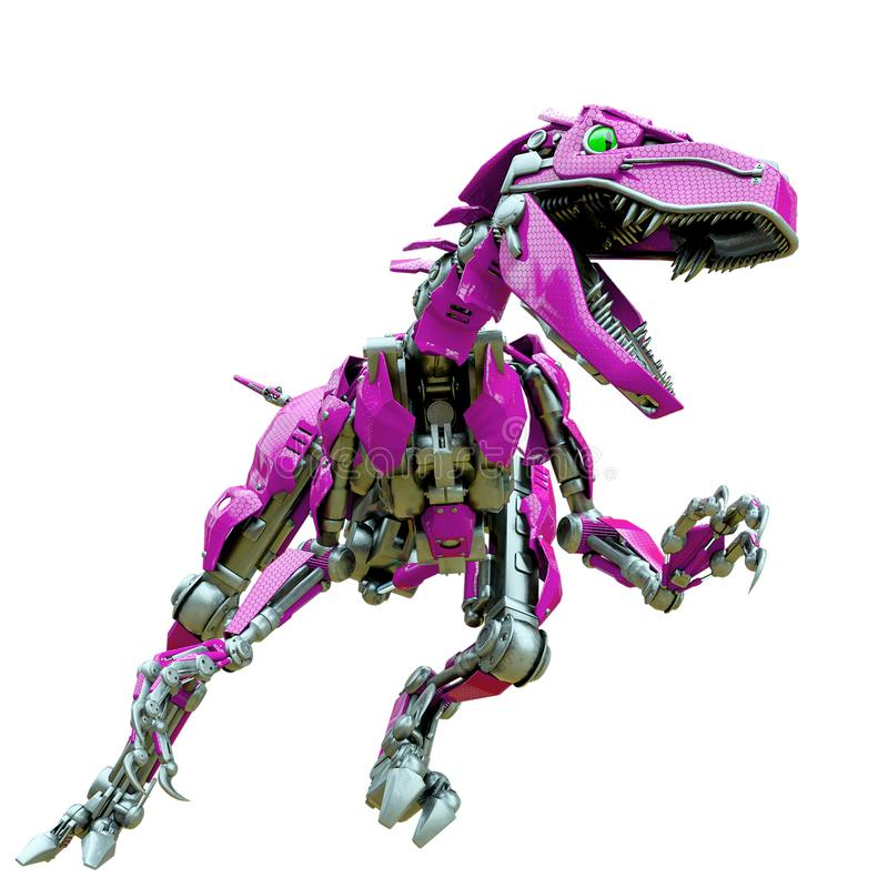 Free Velociraptor Robot In An Agry Attack Royalty Free Stock Image - 165158486
