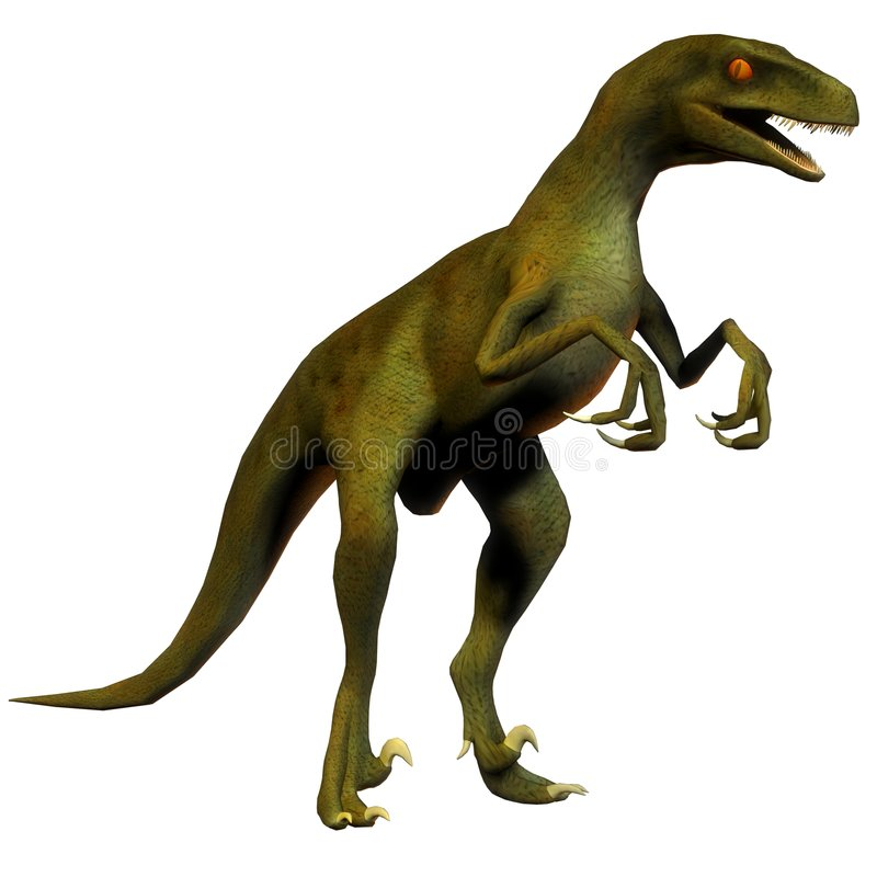 Velociraptor van de dinosaurus stock illustratie