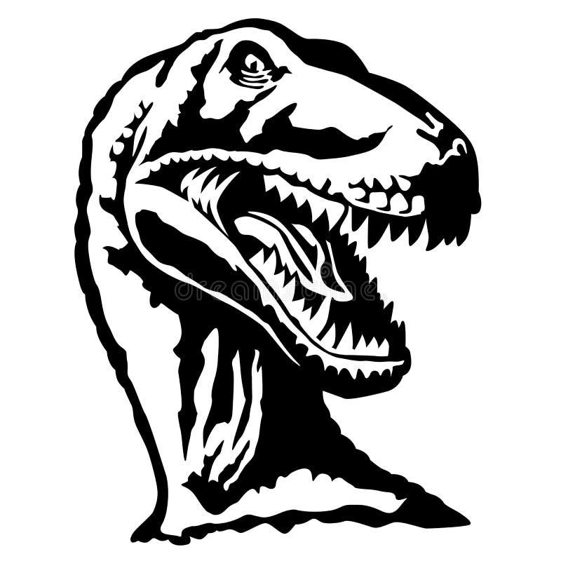 Velociraptorhuvudöversikt royaltyfri foto