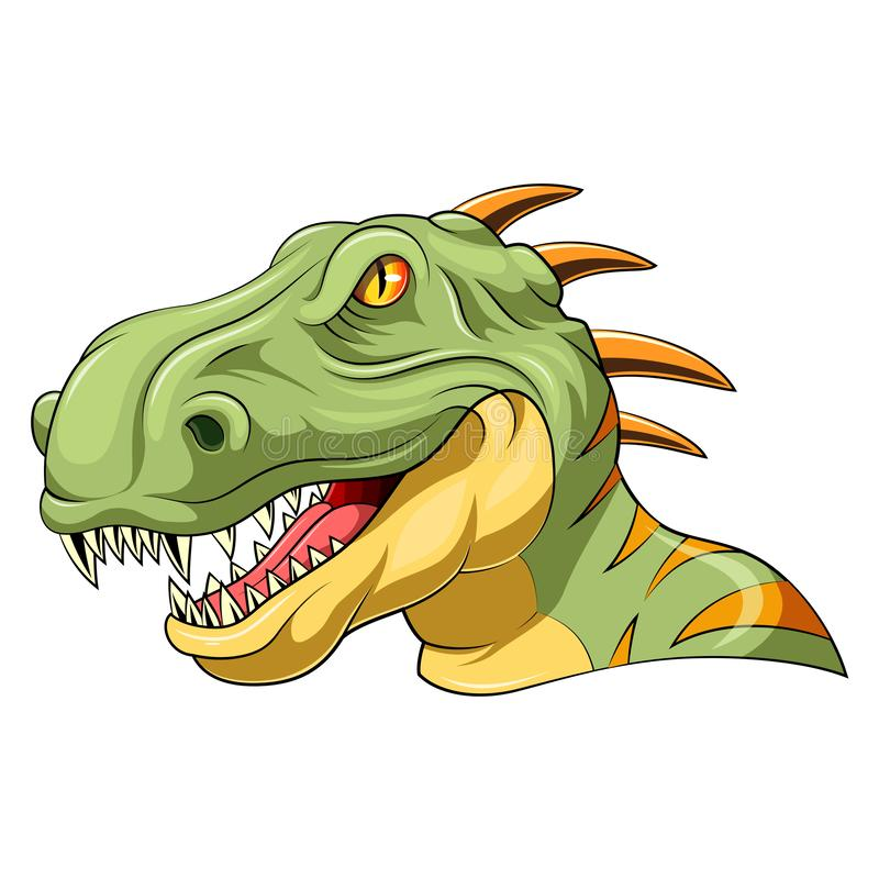 Velociraptorhuvudmaskot vektor illustrationer