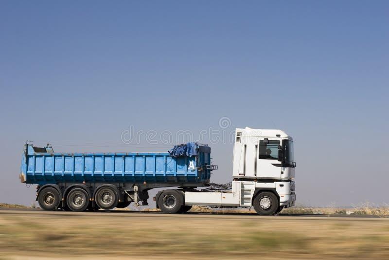 Velocità del camion fotografia stock