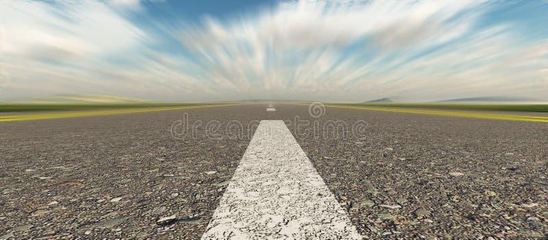 Velocità della strada asfaltata panoramica fotografie stock