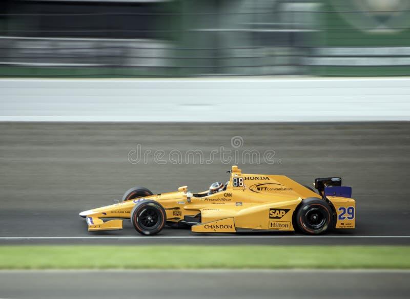 Velocità di Indy 500 fotografia stock
