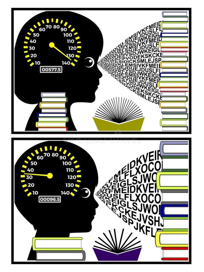 Velocità di lettura dei bambini royalty illustrazione gratis