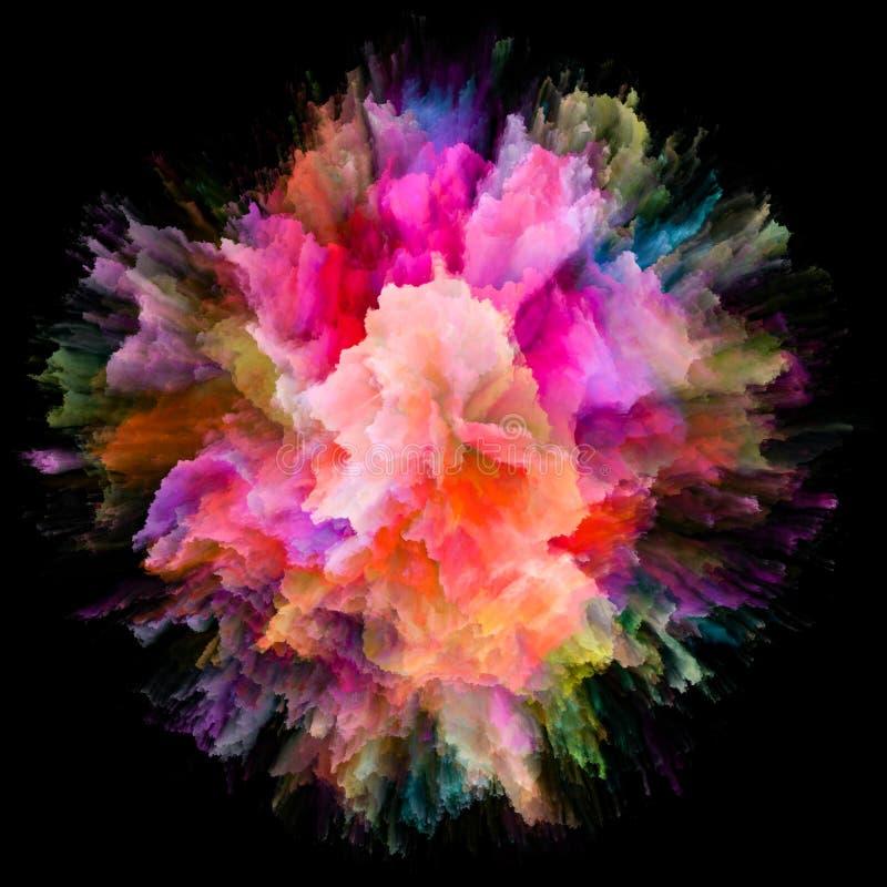 Velocit? dell'esplosione della spruzzata di colore fotografia stock libera da diritti