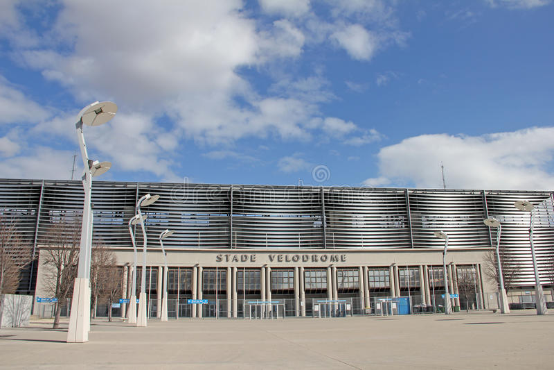 Velodrome Stadion in Marseille stock fotografie