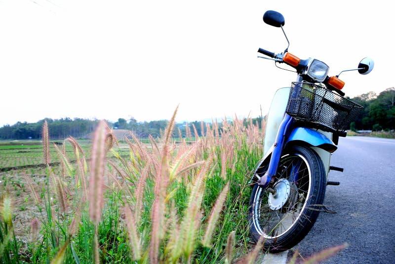 Velomotor velhos da motocicleta foto de stock royalty free