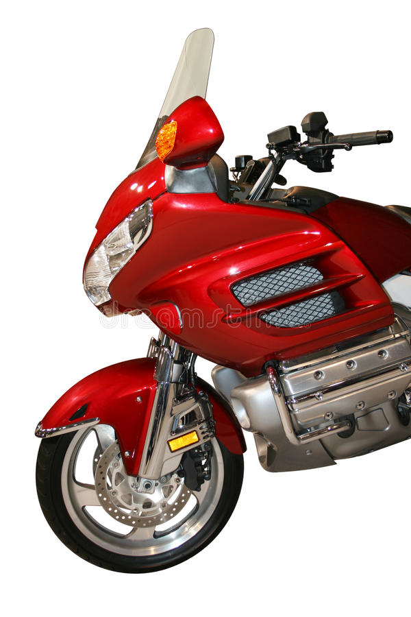 Velomotor vermelho imagem de stock
