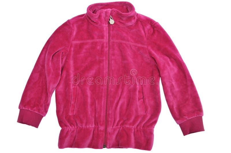 Velour jacket. Velour baby jacket over the white royalty free stock photography